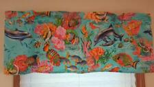 "DOLPHINS TROPICAL FISH OCEAN CURTAIN VALANCE 44""W X 14""L FITS UP TO 28"" WIDE ROD"