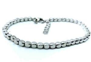 Bracciale argento 925 pepite quadrate tipo Dodo spessore 2.5mm regalo donna uomo