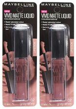2 x MAYBELLINE 7.7mL LIPSTICK VIVID MATTE LIQUID 02 GREY ENVY 100% Brand New