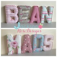 Baby Name Padded Letters, Handmade Fabric name, personalised, girl, boy