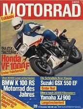 Motorrad 26/83 1983 Yamaha XJ 900 Suzuki GSX 550 EF HRD Reimo Jung Honda VF1000F