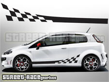 Fiat Punto side racing stripes 011 decals graphics stickers Grande GT