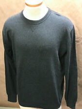 LinkSoul Men's Sweater 98271 Charcoal Size L Cotton/Cashmere NWT Reg:$125