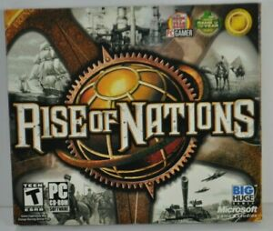 Rise of Nations (PC, 2003) Strategy Game CD-ROM Complete w/ Product Key CIB EUC