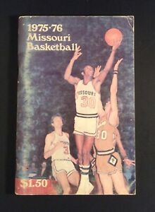 Missouri Tigers 1975-76 Basketball Media Guide NCAA College Memorabilia