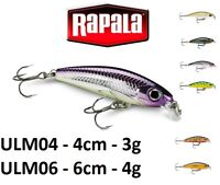 Rapala Ultra Light Minnow Fishing Lure 4cm - 6cm   3g-4g  Various Colours