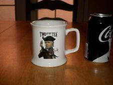 "RUSH LIMBAUGH ""TWO IF BY TEA-O SAY CAN YOU TEA"", Ceramic Coffee Cup / Mug, Vint."