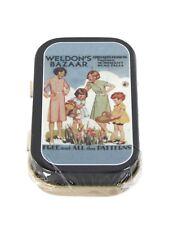 Vintage Advert Timeless Tin Weldon's Bazaar Trinket Pill Box Keepsake Opie Retro