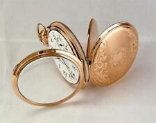 1910 HAMPDEN WM. McKinley 17 JEWELS in 14K GOLD FILLED CASE Mint Dial 16s - RUNS