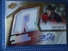 2005-06 SPX ROOKIE AUTO JERSY ZACH PARISE DEVELS 971/1499