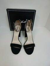 Qupid Womens Sandals Black Samanda One Band Ankle Strap Size 10