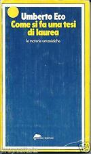 YB 01 1977 COME SI FA UNA TESI DI LAUREA di Umberto Eco