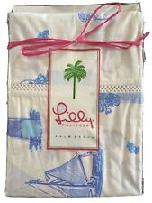 Lilly Pulitzer Bedding 2 Queen Pillowcases Warm Breezes NEW Vintage Linens