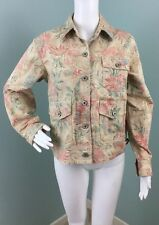 NWT Womens Ralph Lauren Floral Button Down Denim Jacket Size M Medium