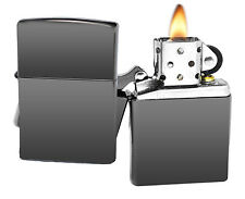 Zippo Lighter 150 Black Ice Chrome Windproof Classic NEW