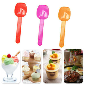 Mini Tasting Spoon Birthday Party Cutlery Tableware Supplies 100Pcs Disposable
