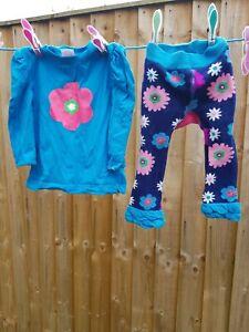 Blade And Rose 6-12Months Baby Girl Floral  Leggings long sleeve top Pre Loved
