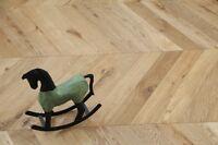 Oak Chevron Brushed &UV Oiled Flooring 90X18/4MM SR1802 Wood Floor