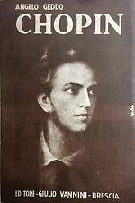 (Musica) A. Geddo - CHOPIN - Brescia 1937
