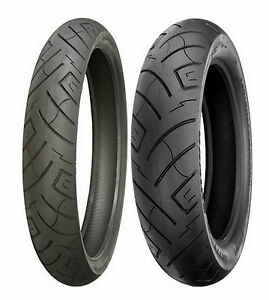 130//90B-16 73H Shinko 777 H.D Front Motorcycle Tire White Wall for Harley-Davidson Softail Heritage Classic FLSTC 1987-2006