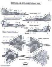 Berna Decals 1/48 DASSAULT MIRAGE 2000 Fighter STENCILS AND MARKINGS