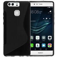 Custodia protettiva WAVE cover TPU Nera per Huawei P9 case morbida flessibile