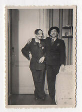 PHOTO Vintage Déguisement Travestissement Homme Couple Moustache Vers 1940
