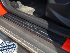 Ford Focus III 2011- Protectores Cromados Umbral Puerta Fibra Carbon Door Sill