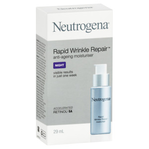 Neutrogena Rapid Wrinkle Repair Night Anti-Ageing Moisturiser 29mL Retinol SA