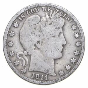 Better 1911 - US Barber 90% Silver Half Dollar Coin Collection Set Break *541