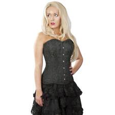Burleska vintage Gothic corsé evalué Corsage corset Versatile Brocade negro