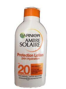 Garnier Ambre Solaire Protection Lotion 24H Hydration SPF20 200ml Sun Tan Cream