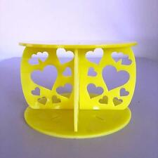 Hearts Design Round Wedding/Party Cake Separators - Yellow Acrylic