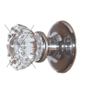 Retrofit kit in Polished Chrome for Passage Modern Door with your Antique Knobs