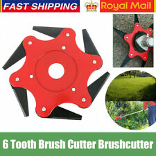 6 Teeth Grass Trimmer Brush Cutter Head 65Mn Steel Garden Strimmer Mower Blade