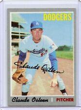 1970 TOPPS BASEBALL #260 CLAUDE OSTEEN, AUTOGRAPH, LOS ANGELES DODGERS 090417