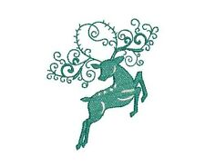 DEER SILHOUETTES  -  20 MACHINE EMBROIDERY DESIGNS