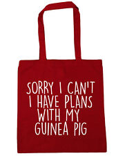 Sorry I Can't I Have Plans With My Guinea Pig Tote Shopping Gym Beach Bag 42cm x