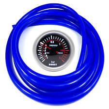 52mm CN-1 Smoked Turbo Boost Gauge 2 Bar with Blue Hose