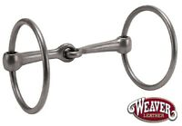 "Ring Snaffle Horse Bit 5"" Mouth Raw Sweet Iron by Weaver Leather New Free Ship"