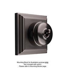 Black Toggle Light Switch on Black Porcelain Base - Clipsal Heritage Style