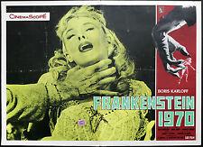 CINEMA-fotobusta FRANKENSTEIN 1970 b. karloff, KOCH