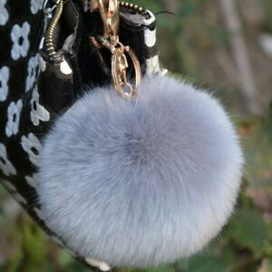 Furry Grey charm handbag Keyring Extremely soft - DISCOUNT - SPECIAL OFFER