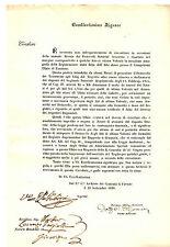 Autografo Carlo Del Grande Primo Ministro Granducato Toscana Archivio Contratti