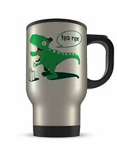 14oz Tea Rex (T-Rex) Dinosaur Funny Novelty Gift Aluminium Travel Mug