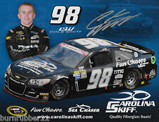 "SIGNED 2016 COLE WHITT ""CAROLINA SKIFF PREMIUM"" #98 NASCAR SPRINT CUP POSTCARD"