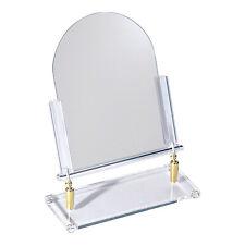 "Countertop Adjustable Glass Mirror Brass Hinge Retail Jewelry Makeup 12"" x 15"""