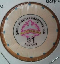 1997 ELDORADO HOTEL CASINO RENO, NEVADA LOGO $1.00 GAMING CHIP!