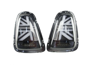 Mini R56 hatchback 2007-2013 smoked LED union jack tail rear lamps lights pair