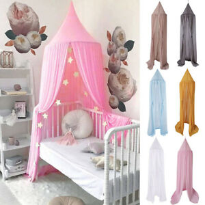 Round Ball Children's Bed Canopy Bedcover Mosquito Net Curtain Bedding Dome New